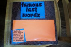 Shot book page: Famous last words Birthday Shots, My Best Friend's Birthday, 22nd Birthday, Birthday Ideas, 21st Shot Book, Shot Book Pages, Night Book, Grilling Gifts, Sorority Crafts