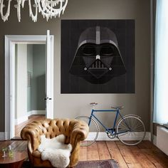 Dutch design company IXXI created an entire collection of officially-licensed Star Wars Mosaic Wall Art. Check it out on www.jebiga.com! #decor #poster #wall #StarWars #design