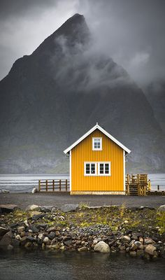 Norwegian classic, island of Sakrisoya, autumn, Lofoten ~ Norway. Oh The Places You'll Go, Places To Travel, Landscape Photography, Nature Photography, House Photography, Scenic Photography, Night Photography, Landscape Photos, Zelt Camping