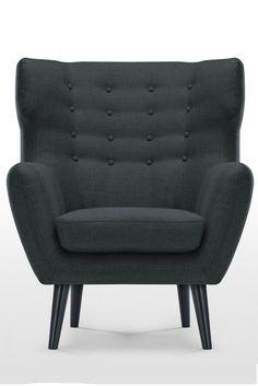 ikea benarp sessel nordvalla dunkelgrau die hohe r ckenlehne st tzt den kopf und. Black Bedroom Furniture Sets. Home Design Ideas