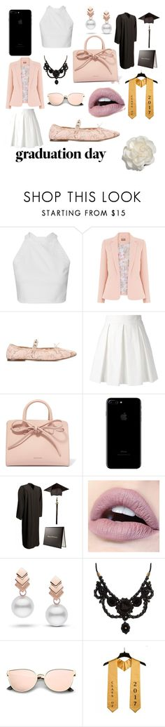 """Graduation Day"" by pandadonutfashion ❤ liked on Polyvore featuring Valentino, Boutique Moschino, Mansur Gavriel, Escalier, Gucci and Cara"