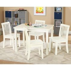Simple Living 5-piece Alice Kids Table and Chair Set | Overstock.com Shopping - The Best Deals on Kids' Table & Chair Sets