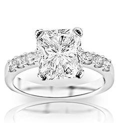 1.02 Carat GIA Certified Radiant Cut / Shape Classic Prong Set Round Diamond Engagement Ring ( H Color , VVS2... $1,580.00 #ChandniJewels