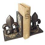 Aparador de Livros Flor de Lis Oldway em Resina