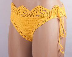 Crochet Beige bikini bottom women bikini bottom swimwear beach