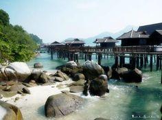 10superbes bungalows les pieds dans l'eau Pangkor Laut Resort malaysia proche KL
