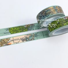World Map Washi Tape. This tape is perfect to use on any of your paper projects! This tape is perfect for all paper projects! Use as a border to make Washi Tape Crafts, Paper Crafts, Washi Tapes, Cinta Washi, Map Globe, Decorative Tape, We Are The World, All Paper, Masking Tape