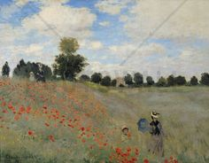 Monet, Claude - Wild Poppies - Fotobehang & Behang - Photowall