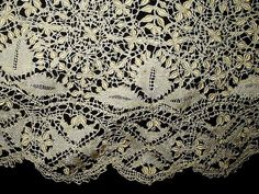 Here is an incredible beauty just acquired and the first time offered. I think it is one of the most beautiful pieces of Maltese Bobbin Lace I have ever owned and now I am offering it to someone who w