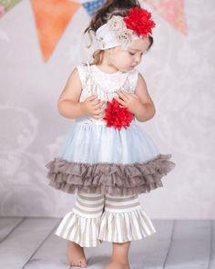 Giggle Moon Wedding Bells Tutu Dress and Ruffled Capri Wide Leggings in size 2t-6x. Pre-order now.