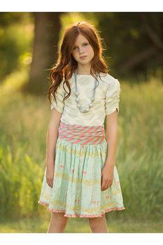 Deer Ruched Waist Skirt | 523 DER
