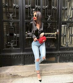 Awesome Best 50 Cute Spring Outfits for Women source : trendingofashion. - outfits - New Hair Styles Cute Spring Outfits, Preppy Outfits, Classy Outfits, Chic Outfits, Fashion Outfits, Womens Fashion, Casual Bar Outfits, Casual Jeans, Fashion 2018