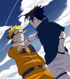 Brofist! Sasuke and Naruto just make it look cooler~~
