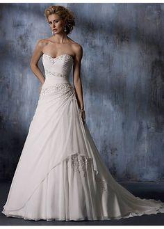 Elegant Exquisite Charm Chiffon Strapless Wedding Dress W2325  $328.02