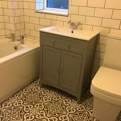 Almost finished eeeek! It feels so much fresher and modern and I ❤the tiles Bathroom Inspo, Bathroom Ideas, Metro Tiles, Wet Rooms, Reno Ideas, Bathroom Renovations, Feels, New Homes, Loft