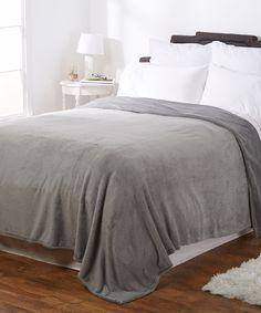 Look what I found on #zulily! Gray Serasoft Blanket by Berkshire Blanket #zulilyfinds