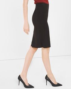 WHBM Black Pencil Skirt