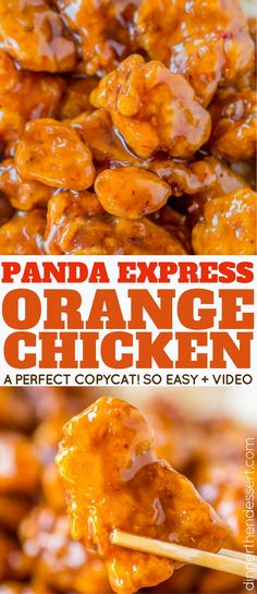 Panda Express Orange Chicken with tender chicken thighs fried crisp and tossed in a magical perfect-copycat sauce! With a video!