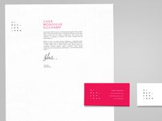 letterhead. Clean, simple, effective