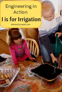 In this unit, I is for irrigation, we explore how farmers use irrigation to grow the food we eat. This activity in an example of engineering in action.