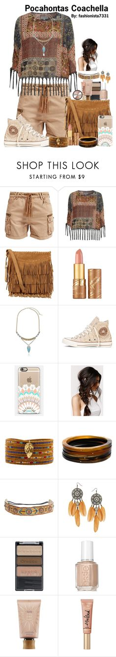 """""""Pocahontas Coachella"""" by fashionista7331 ❤ liked on Polyvore featuring Kaporal, Alice & You, Polo Ralph Lauren, tarte, Steve Madden, Converse, With Love From CA, Chan Luu, Monique Péan and Deepa Gurnani"""