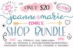 Complete Shop Bundle by Joanne Marie on @creativemarket.... EXCELLENT DEAL LIMITED TIME ONLY!