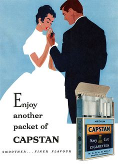 Capstan Navy Cut Cigarettes Oh those great days, when man and woman smoked with no second thoughts..