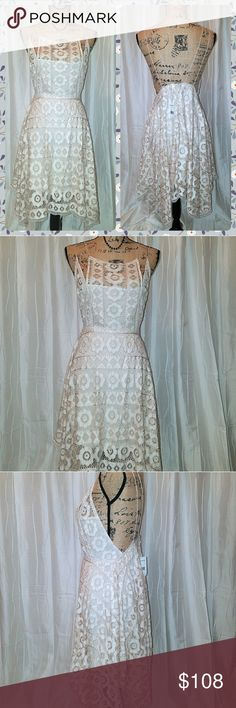 🆕 *NWT* FREE PPL DRESS Sexy, stylish FREE PEOPLE dress in ivory. Free People Dresses