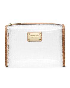 MICHAEL Michael Kors  Large Nora Clear Cosmetic Bag.
