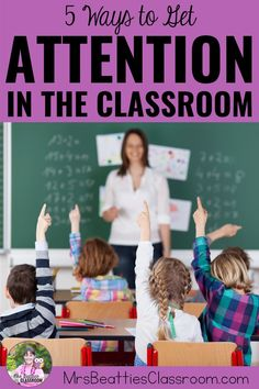 If you're an elementary teacher looking for fun, creative ways to get your students' attention, this post is for you! I'm sharing 5 top attention grabber ideas and signals that are perfect for any elementary classroom. Grab a free set of call and response call backs for your own classroom! #studentattention #callandresponse #classroommanagement #classroom #teaching