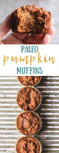 Pumpkin Muffins These easy and healthy Paleo Pumpkin Muffins are made with almond flour. Find this delicious recipe at ! These easy and healthy Paleo Pumpkin Muffins are made with almond flour. Find this delicious recipe at ! Paleo Muffin Recipes, Paleo Pumpkin Recipes, Paleo Pumpkin Muffins, Gluten Free Pumpkin, Vegan Pumpkin, Healthy Pumpkin, Baked Pumpkin, Healthy Muffins, Pumpkin Spice