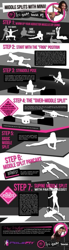 "PoleFit® Tips and Tricks Series: Want to increase your strength and flexibility? We teamed up with the Bad Kitty® Brand Ambassadors to bring you a series of ""Tips and Tricks."" Tip #1: Middle Splits Flexibilty with Mina Mortezaie. #BadKittyPride #BadKittyBlog http://www.badkitty.com/news/polefit-tips-and-tricks-series-1-middle-splits-with-mina/"