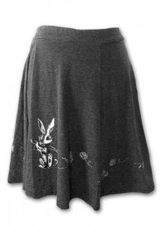 Fearless Illustration Runaway Rabbit Skater Skirt