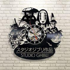 Studio Ghibli Vinyl Record Wall Clock #studioghibli #spiritedaway #totoro…