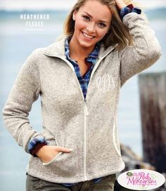 Monogrammed Charles River Woman's Sweater Fleece Jacket  Apparel & Accessories > Clothing > Activewear > Active Jackets
