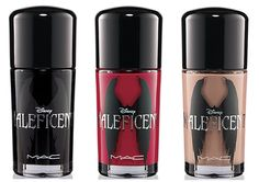MAC Maleficent Collection for Summer 2014 - Nail Lacquer – Limited Edition •Nocturnelle •Flaming Rose  •Uninvited