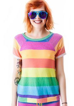 Wildfox Couture 70's Rainbow Camden Top