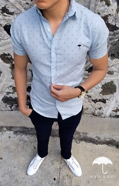 Outfit Archives - New Ideas Stylish Mens Outfits, Stylish Shirts, Casual Summer Outfits, Casual Shirts, Cool Outfits, Outfit Hombre Formal, Formal Men Outfit, Style Casual, Casual Looks