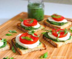 Rezepte mit Herz   ♥: Pesto Bruschetta