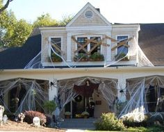 halloween-decorating-ideas. Why don't my webs ever look this nice?!?