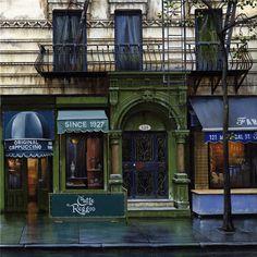 Caffe Reggio-Greenwich Village NYC - set a scene here for Raging Fire!