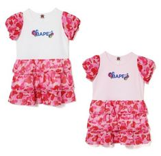 5737d6c9 (eBay Sponsored) A BATHING APE BAPE KIDS ABC CAMO PUFF SLEEVE ONEPIECE  Dress 2colors