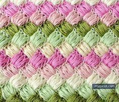 MyPicot   Crochet Box Puff Stitch   Brand New as of Tuesday, July 14th!   Free crochet patterns