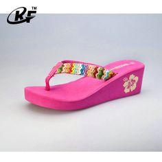 44f93d879 Women Summer Platform Wedge Beach Flip Flops Thong Sandals Shoes     Check  out this great product.