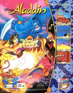An Advert for Aladdin for the Gameboy Color. It's actually a real weird game, because it's published by Disney Interactive, but it's a conversion of the Virgin Interactive version of Aladdin, which...