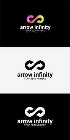Arrow Infinity Logo Template AI, EPS