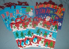 Lot of 12 New Christmas Holiday Assorted Gift Bags 7 x 9 x 4 Polar Bears Santa | eBay $6.99