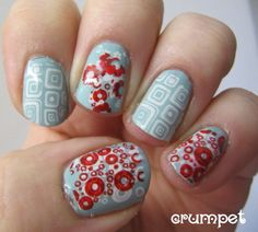 Retro Nails    The Crumpet: Summer Challenge Day 17 - Retro
