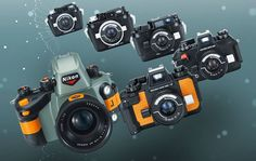 Nikonos series underwater film cameras