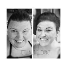 "I found that little gem on the left recently.  I remember when it was taken and I thought  ""that's not a bad pic!""....... What?  Sometimes I just didn't see IT.  Other times it's all I saw.  Crazy how our little brains comprehend our reflection at times.  #transforming #beforeandduring #facetoface #weightloss #weightlosssurgery #fitfam #lowcarb #losingweight #extremeweightloss #pcos #pcosweightloss #ttc #wlsfamily #bodypositive #honoryourcurves by joye_in_the_journey"